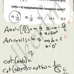 Trigonometrik dönüşümler soru çözüm