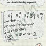 Trigonometrik denklemler #lys nin kesinlerinden.. Calisalim
