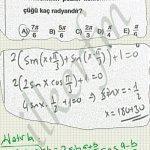 Trigonometrik denklemlerde kök bulma. Hatırlatmayı bilelim