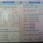 Kosinüs, sinüs teoremleri.. Toplam-fark ve yarım acı formülleri