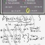 Bağıntı yansıma, simetri, ters simetri ve gecisken özellikleri