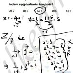 -4 mod 5 te – 4+5=1 e eşittir. Modüler aritmetik soru çözüm