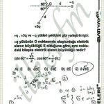 Bileske elektrik alan vektörel çözüm