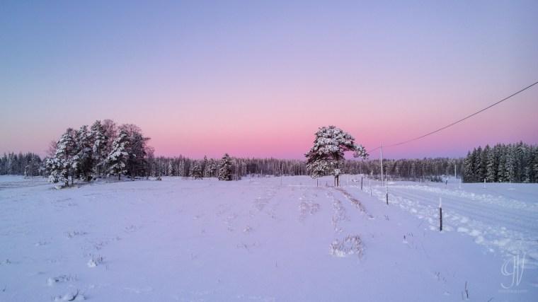 Läntinen taivas aamunkoitteessa