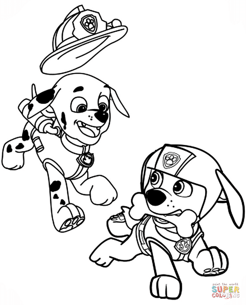 Zuma Paw Patrol Coloring Pages Sketch Coloring Page