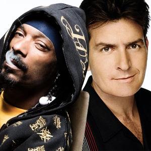 Snoop Dogg & Charlie Sheen In The Studio