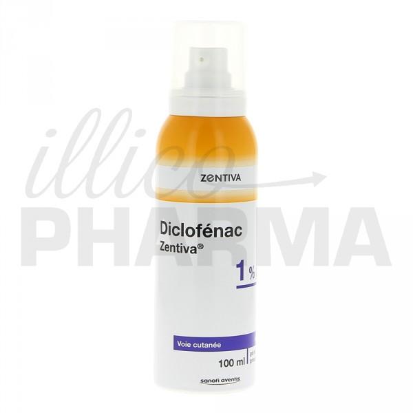 Diclofenac Zentiva 1 flacon 100mlDouleurs articulaires et musculairesIllicoPharma