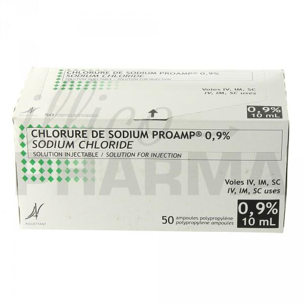 Chlorure de sodium Proamp 09 50Amp10ml Liquide ePharmacie IllicoPharma