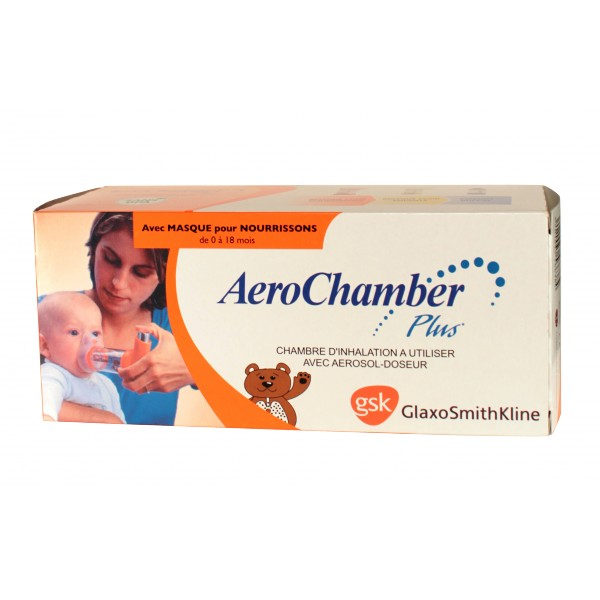 Aerochamber Plus Chambre inhalation pdiatrique GSK  Pharmacie IllicoPharma