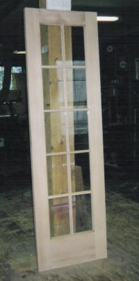 Custom made interior solid wood doors; French, Arch top