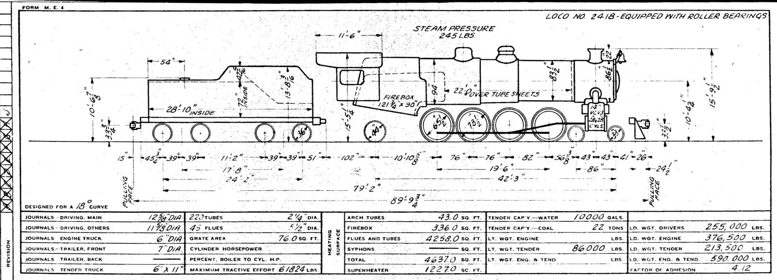 Illinois Central 1955 Locomotive Diagrams