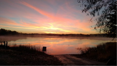 Sunrise over Lake Shelbyville