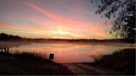 Sunrise over Lake Shelbyville