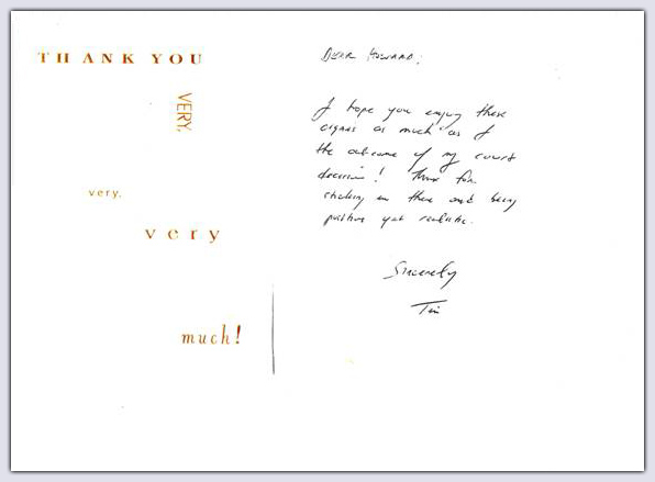 thank you note to client
