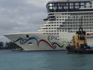 Norwegian Epic side view front