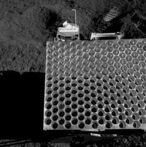 lunar refractor on the moon set up for lunar ranging moon mirrors