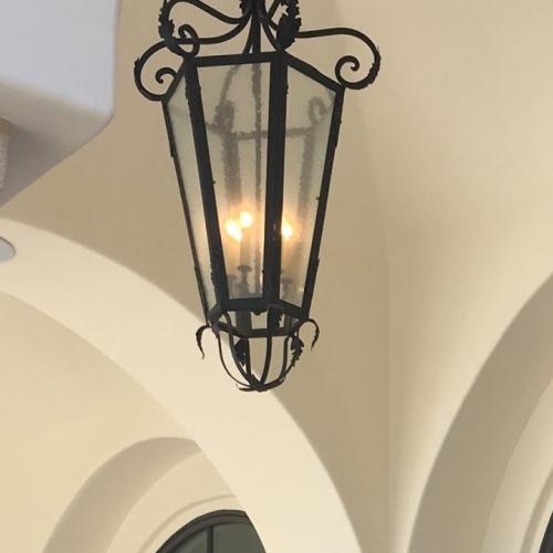 wrought iron outdoor lighting fixtures