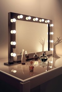 High Gloss Black Hollywood Makeup Dressing Room Mirror ...