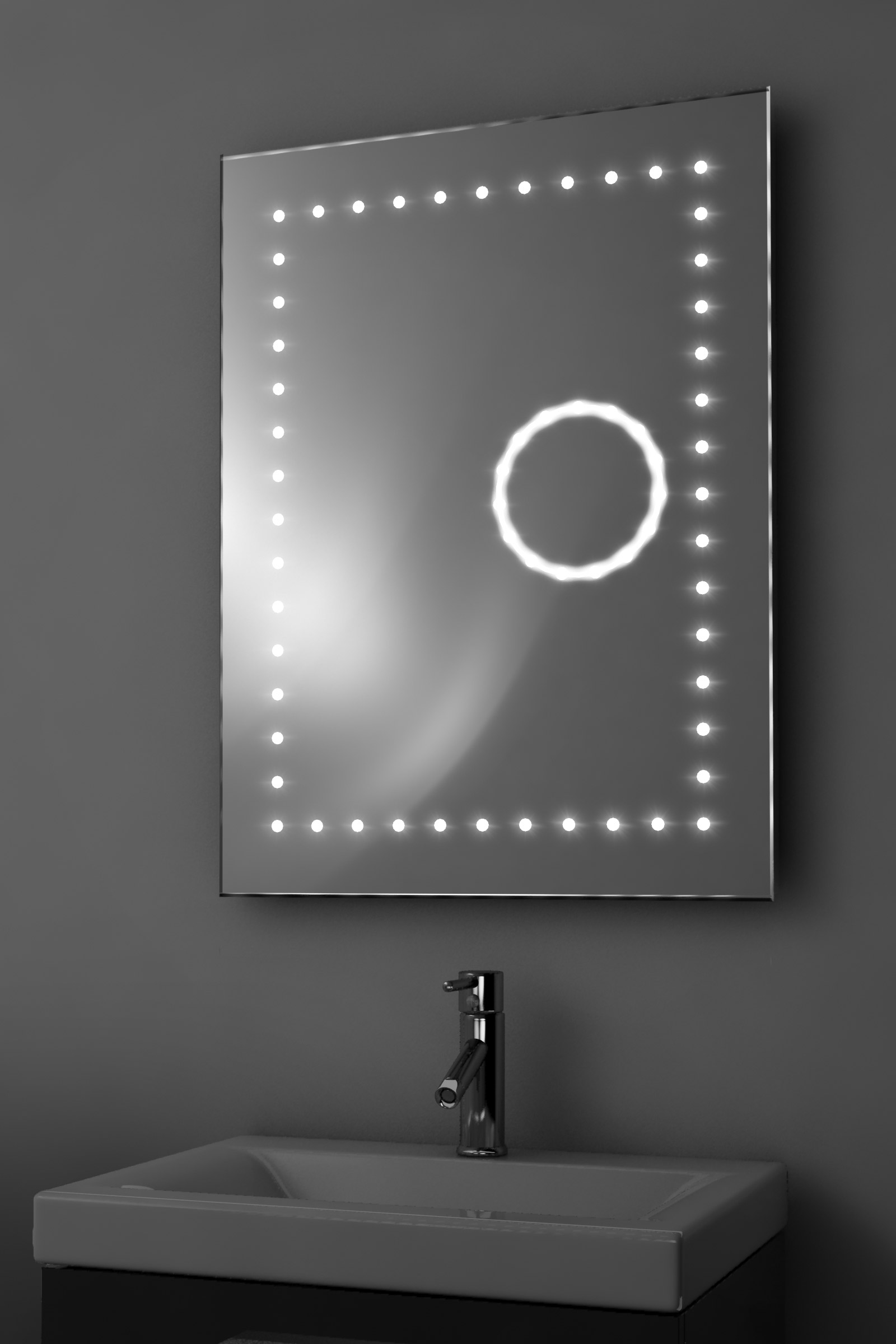 Eclipse Shaver 3X Magnification LED Bathroom Mirror With
