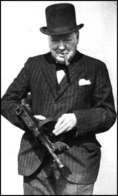 Winston Churchill with gun
