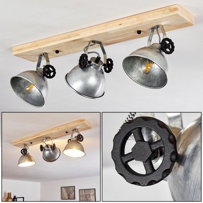svanfolk ceiling light black brown galvanized 3 light sources