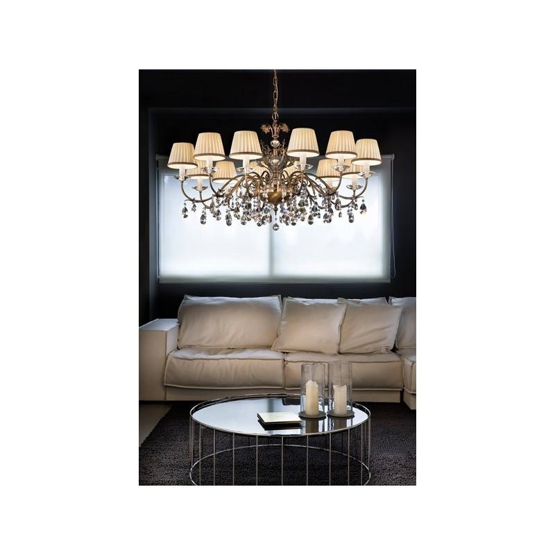 Spesso come lampadari classici per cucina si scelgono quelli in vetro. Primadonna 12 G01 Masiero Lampadario Classico
