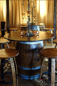 "Wine Barrel Tables 46"" Top x 37"""""