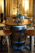 Wine Barrel Cocktail Table