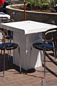 "White Ripple Cocktail Tables 32"" x 32"" Top x 30""h"