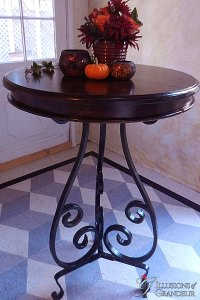 "Iron Pedestal Cocktail Tables 30"" Top x 37""h"