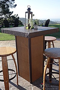 """Faux Snake Skin Cocktail Tables 32"""" x 32"""" Top x 42""""h"""