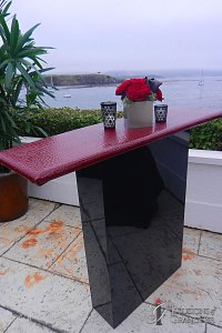 "Contemporary Black Lacquer Tables 44"" x 14"" x 39""h Variety of Color & Styles available for Table Tops"