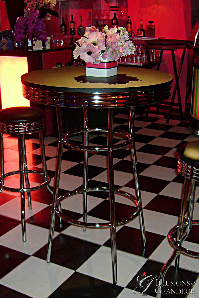 """Diner Cocktail Tables 30"""" Top x 42""""h"""