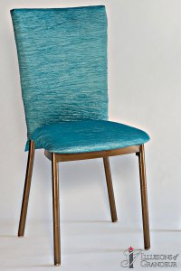 Bronze Diamond Back Chairs Turquoise Crinkle Chair Back Covers Turquoise Crinkle Cushion Covers