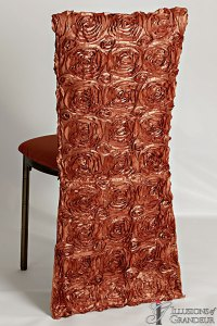 Bronze Diamond Back Chairs Long Burnt Orange Chair Back Covers Burnt Orange Dupioni Cushion Covers