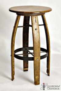 Wine Barrel Barstools
