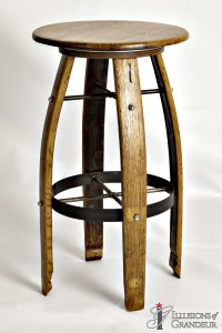 Wine Barrel Barstools