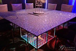 """Glitter Tables 66"""" x 66"""" x 30""""h"""