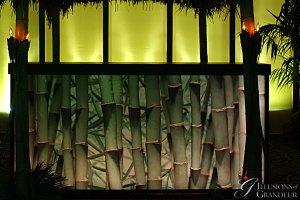 """Bamboo Bar 24""""x94""""x46""""h"""