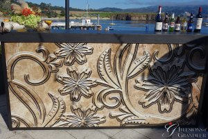 "Tooled Leather Bar 24""x94""x46""h"