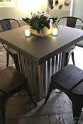"""Corrugated Metal Cocktail Table 32""""x32""""x30"""""""