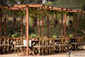 "Redwood Tables with Trellises 5""x8""x8""h"