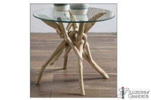 """Driftwood Side Tables 23""""23""""20""""h"""