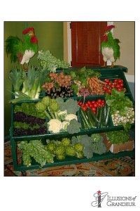 "Vegetable Cart 27""x60""x45""H"