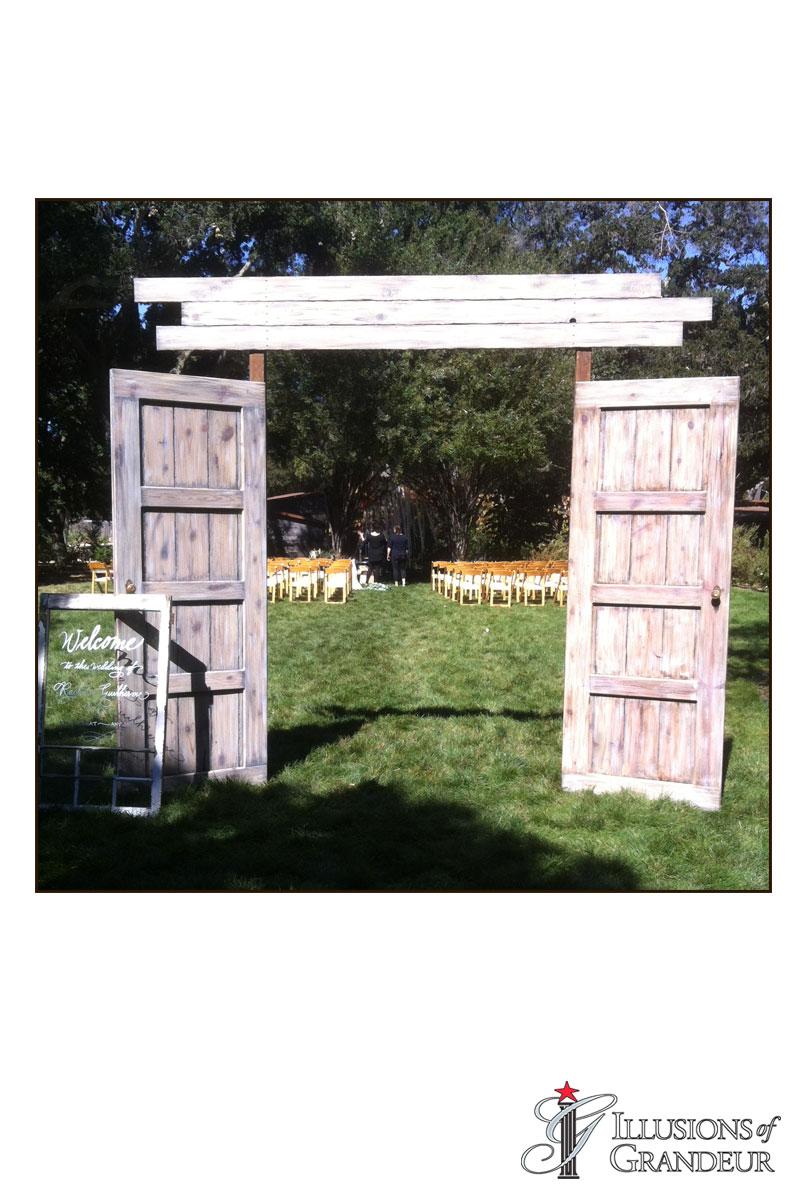 """Vintage Barn Doors 10""""x1""""x10"""""""
