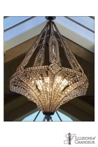 "Crystal Chandelier 30""x30""x43""H"