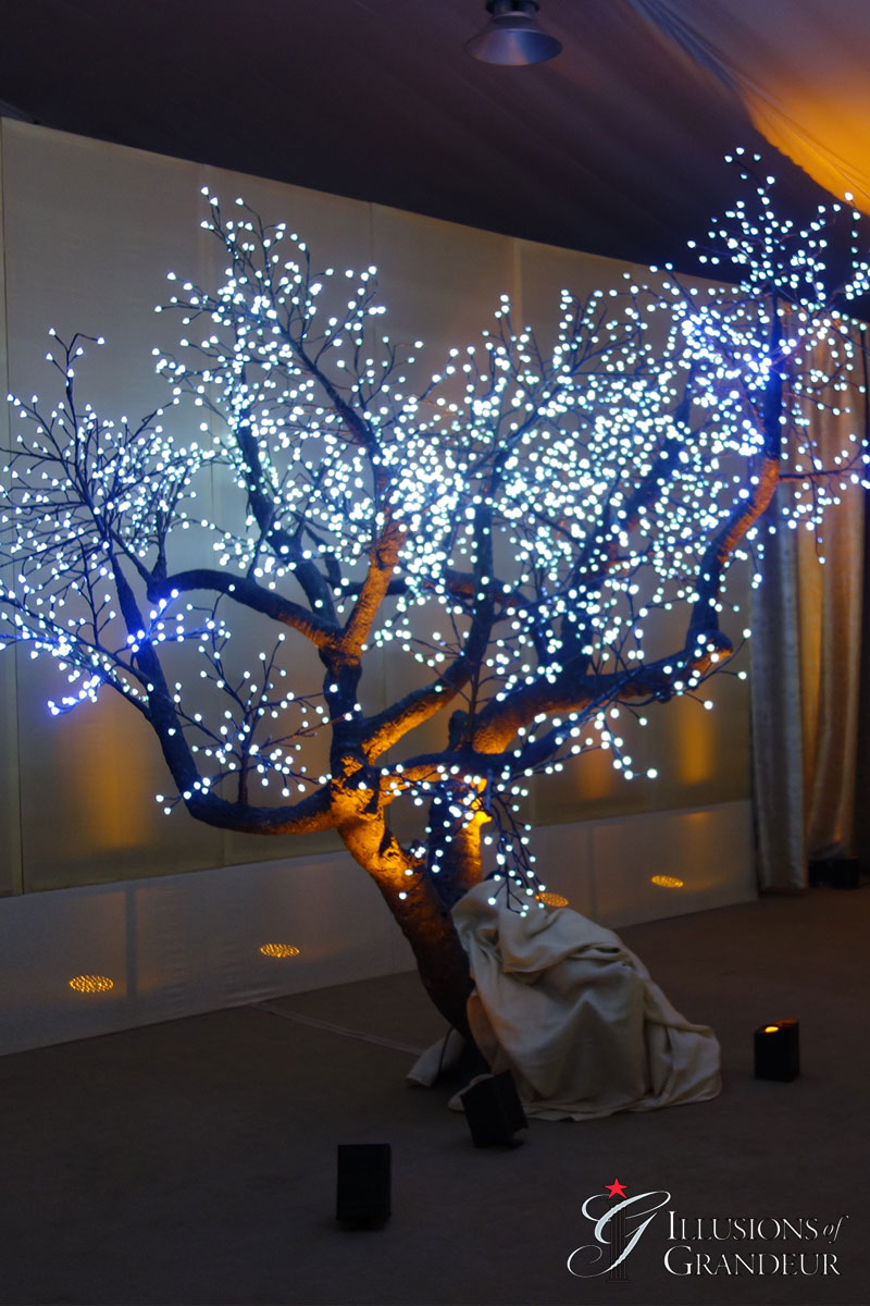 Illuminated Large LED Trees