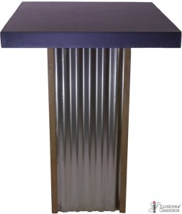Corrugated Metal Tall Cocktail Tables