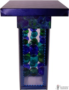 LED Glass Ball Tall Cocktail Tables