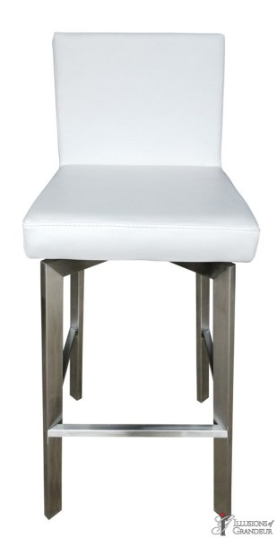 White Leather Bar Stools